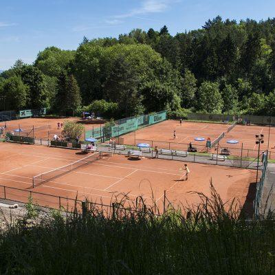 Blick auf die Anlage des Tennisclub Weiß-Rot Coburg