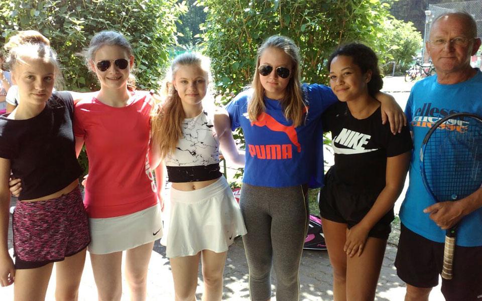 Tennis Weiss-Rot - Mädchen 14