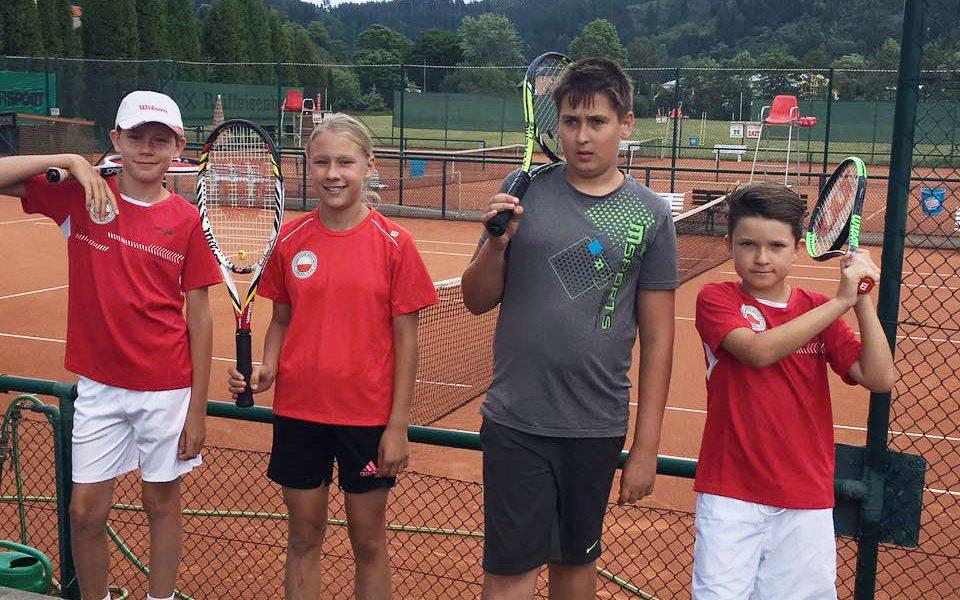 Tennis Weiss-Rot - Bambini 12/II