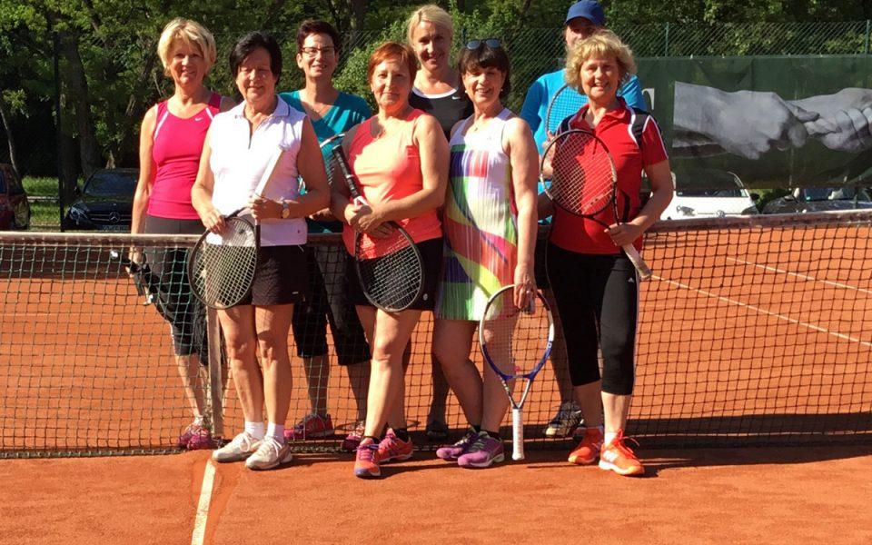 Tennis Weiss-Rot - Damen 40