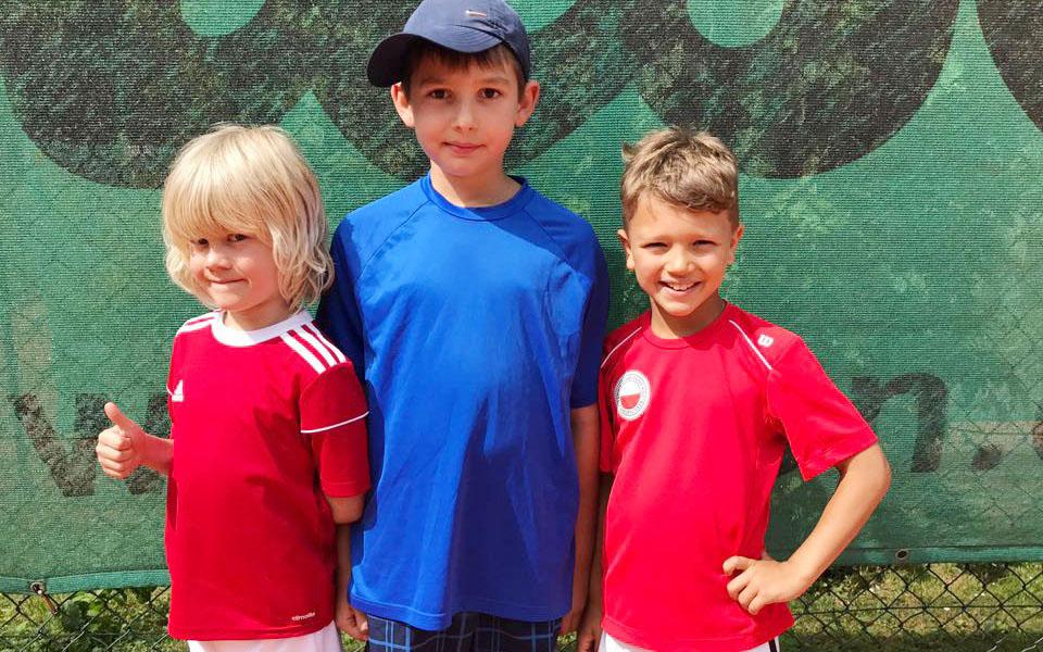 Tennis Weiss-Rot - Dunlup Kleinfeld U8