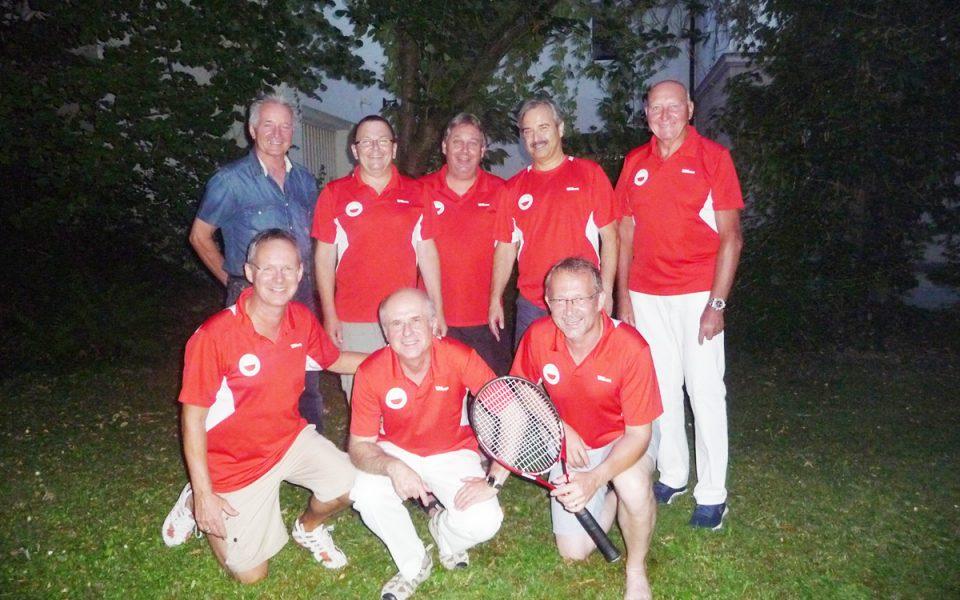 Tennis Weiss Rot - Herren 55