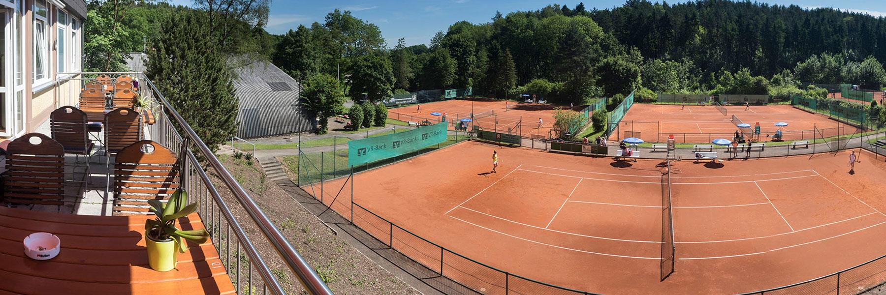 Panorama Anlage Tennisclub Weiß-Rot Coburg